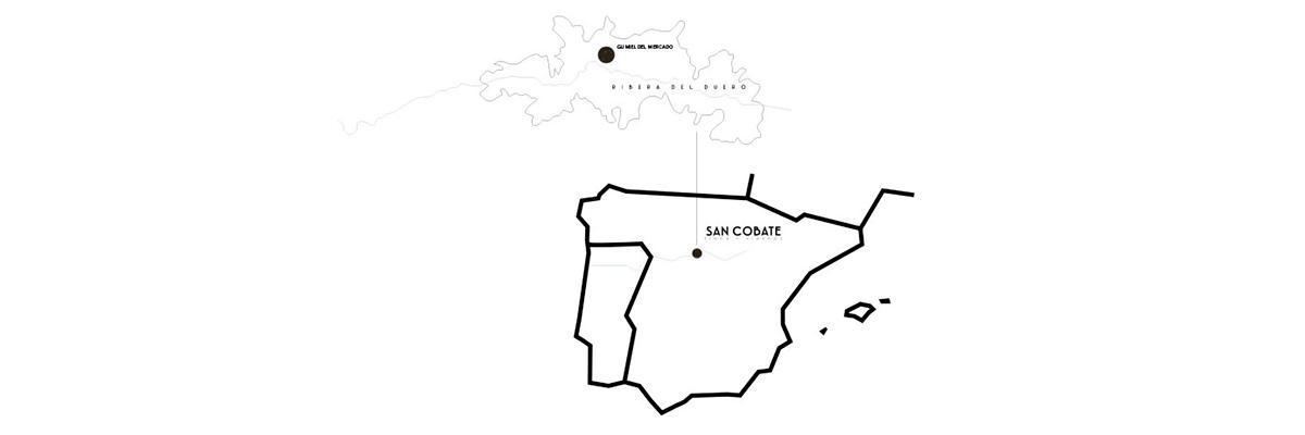Mapa de ubicación de la bodega San Cobate