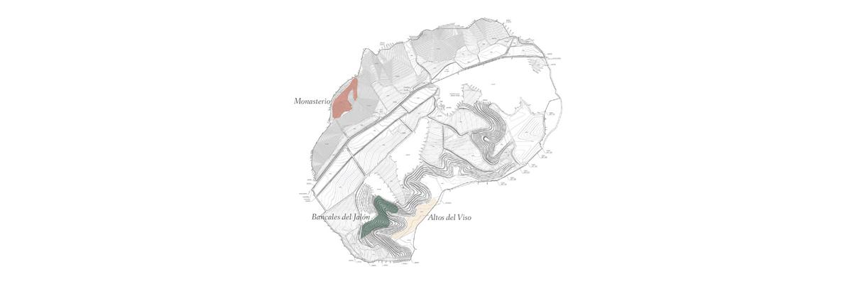 Mapa de las parcelas de San Cobate
