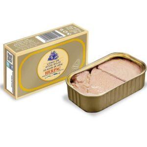 Fotografía de producto o de presentación de un plato con los productos Herpac.Salazones conservas y ahumados de Barbate - Herpac - Atun - atun rojo - mojama - hueva - cadiz - almadraba - quiero delicatessen - villena - alicante